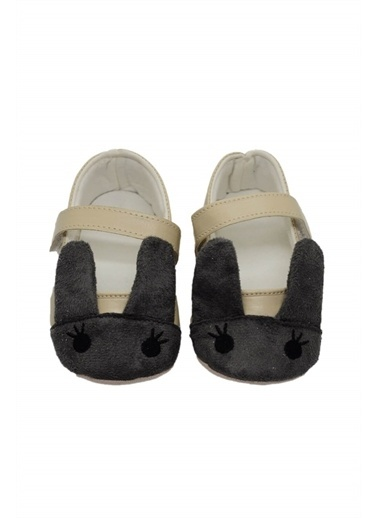 First Step Kulak Detaylı Bebek Babet  G-2116 Gri